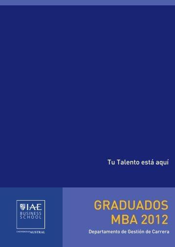 GRADUADOS MBA 2012 - IAE Business School