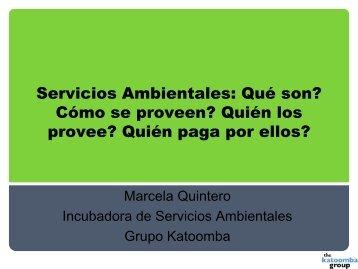 Servicios Ambientales: Qué son? Cómo se proveen? Quién los ...