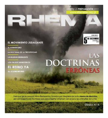 Descargar Revista Rhema1.85 MB - Ministerios Ebenezer Guatemala