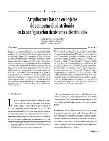 Arquitectura basada en objetos de computación distribuida en la ...