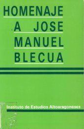 homenaje a jose manuel blecua - Instituto de Estudios Altoaragoneses