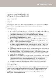 Einkaufsbedingungen der AM Agentur für Kommunikation Gmbh