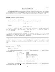 Conditional Proofs