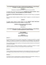 LEY DE RESPONSABILIDAD CIVIL PARA LA PROTECCIÓN DEL ...