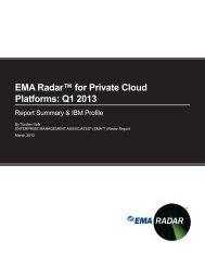 EMA Radar™ for Private Cloud Platforms: Q1 2013