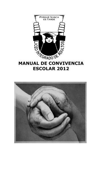 manual de convivencia escolar 2012 - Ministerio de Educación