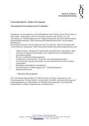 -> Business Development - Karin H. Schleines