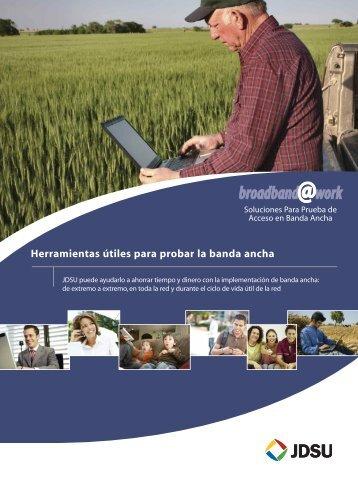 Herramientas útiles para probar la banda ancha - JDSU