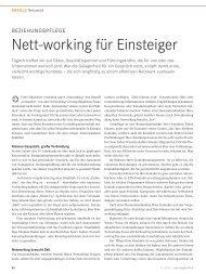 Nett-working für Einsteiger - Karin H. Schleines