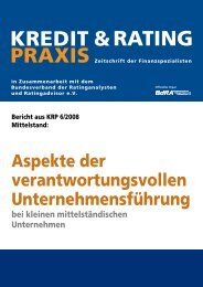 KREDIT & PRAXIS RATING - Karin H. Schleines