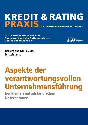 KREDIT & PRAXIS RATING - Karin H. Schleines