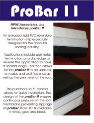 proBar Literature - ProSeal Roofing Systems