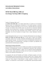 HKTDC World SME Expo 2008 und Inno Design Tech Expo 2008 in ...