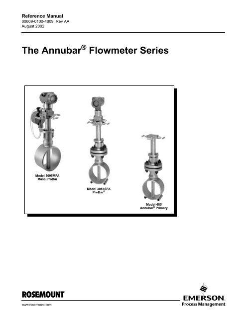 The Annubar Flowmeter Series - Instrumart on