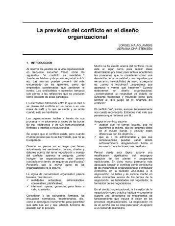 La previsión del conflicto en el diseño organizacional - Catedras