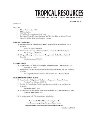 TROPICAL RESOURCES - Yale School of Forestry & Environmental ...