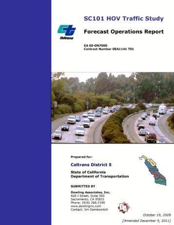Traffic - Forecast Operations Report - Caltrans
