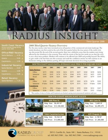 11/13/08 - Radius Group Commercial Real Estate