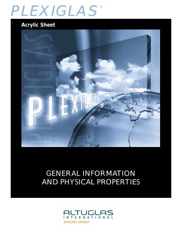 GENERAL INFORMATION AND PHYSICAL ... - Altuglas International