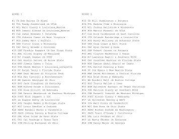 ROUND 1 ROUND 2 #1 TB Bob Raines lb Miami #33 ... - Gamerscove