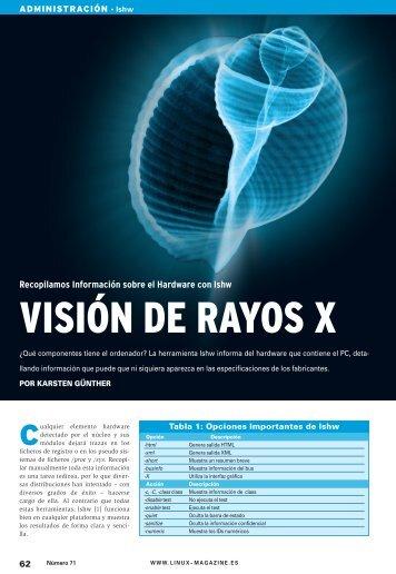 Visión de Rayos X: [PDF, 611 kB] - Linux Magazine