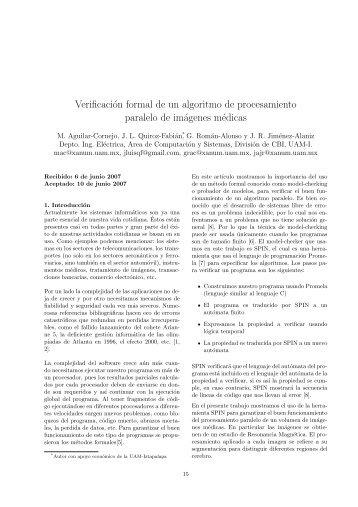 Verificación formal de un algoritmo de ... - UAM Iztapalapa