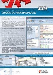 EDICIÓN DE PROGRAMAS CNC - Cimco