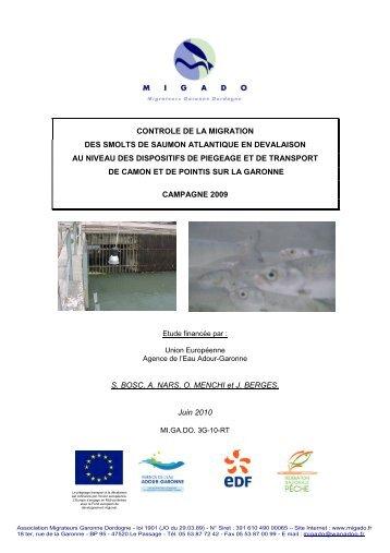 Contrôle de la migration des smolts de saumon atlantique en ...