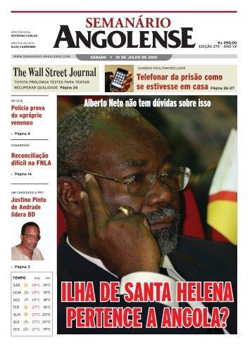 Semanário Angolense 375 edição (sem password) - Falambora-Chat