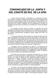 el Comunicado conjunto - FETE-UGT Madrid