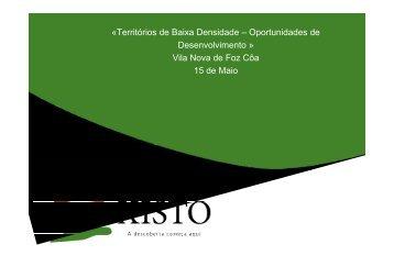 Aldeias do Xisto - Departamento de Prospectiva e Planeamento