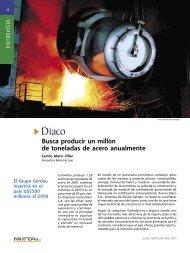 Entrevista - Diaco Busca producir un millon de toneladas de acero ...