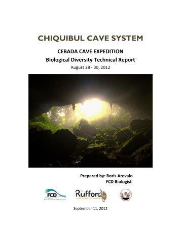 Cebada Expedition Report - Rufford Small Grants