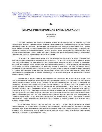 43 MILPAS PREHISPÁNICAS EN EL SALVADOR ... - Asociacion Tikal