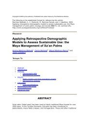 Applying Retrospective Demographic Models to Assess Sustainable ...