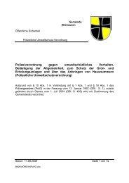 Polizeiverordnung - Gemeinde Altshausen
