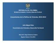 Lineamientos de la Política de Vivienda, 2010-2014