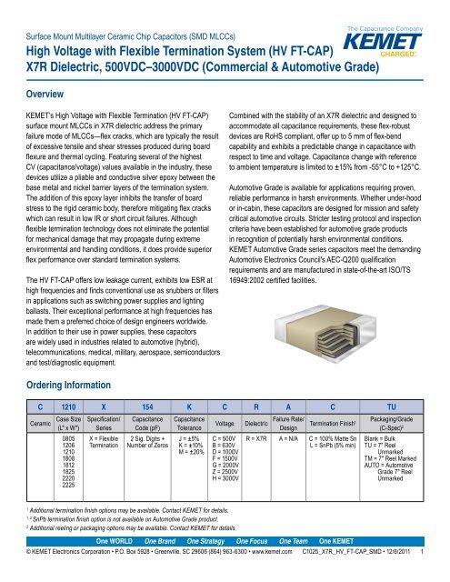 1 µF FT-CAP 5 X SMD Multilayer Ceramic Capacitor 1206 3216 Metric ± 25 V