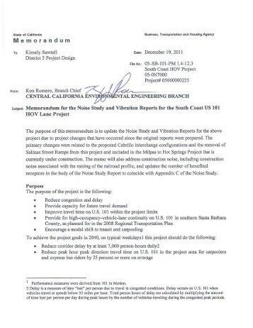 Noise Study Report with Addendum & Appendix - Caltrans
