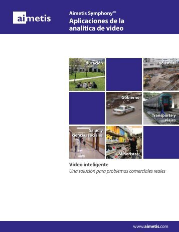 Aplicaciones de la analítica de video - Aimetis