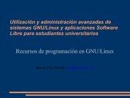 Recursos de programación en GNU/Linux