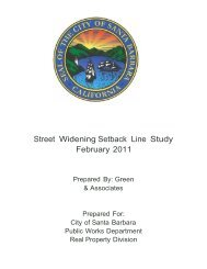 Street Widening Setback Line Study February 2011 - City of Santa ...
