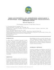 rede multitrófica de artrópodes associados a byrsonima variabilis ...