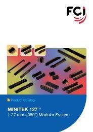 MINITEK 127TM Vertical Through Hole Shrouded Headers