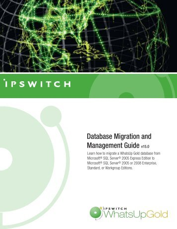 WhatsUp Gold Database Migration and Management Guide