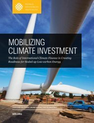 Mobilizing CliMate investMent - World Resources Institute