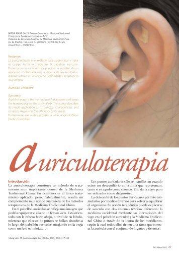 Auriculoterapia - Ediciones ROL de Enfermería