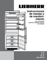 Instrucciones de manejo y de manteni- miento - Liebherr