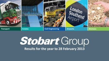 Results for the year to 28 February 2013