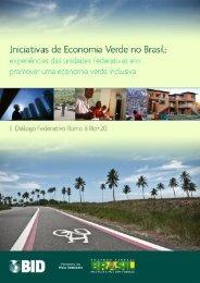 Iniciativas de Economia Verde no Brasil - Ministério do Meio Ambiente